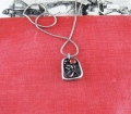 Lilly and Ruby Fine Silver Pendant